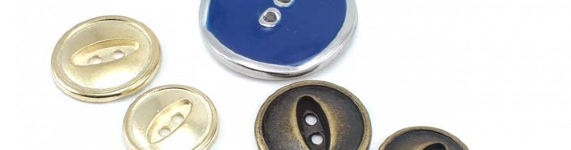 Zinc Metal Buttons | Two and Four Holes Sewing Button Models