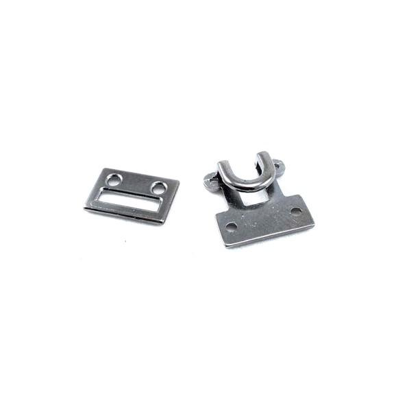 Frog fastening - 20 mm hook-and-eye fastener E 1763
