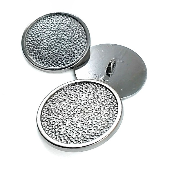 Patterned Metal Foot Button 34 mm B 21