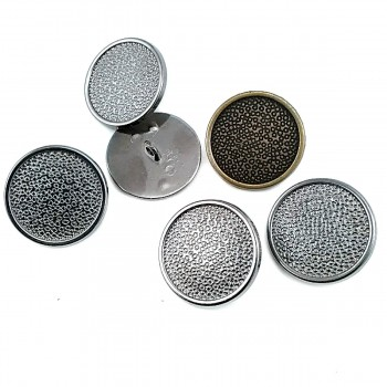 Patterned Metal Foot Button 25 mm B 23