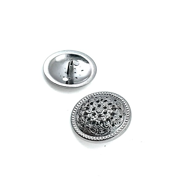 Patterned Metal Foot Button 28 mm B 39