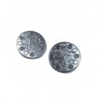 Patterned Shank Metal Button Metal 30 mm 48 L B 5