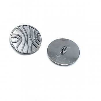 28 mm 44 L  Line Pattern Metal Button with Foot Metal B 83