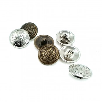 22 mm 36 size Patterned Shank Button E 1033