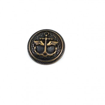 25 mm - 41 size Anchor Logo Printed Footed Button E 1035
