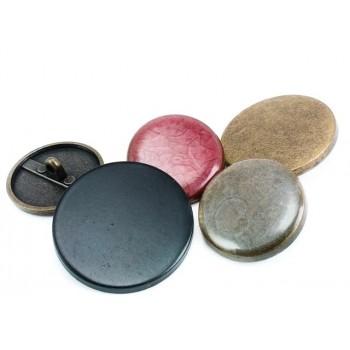 Plain & Enamel Metal Footed Button 28 mm - 44 size E 1139