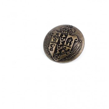 23 mm Medieval Design Footed button Metal E 1050