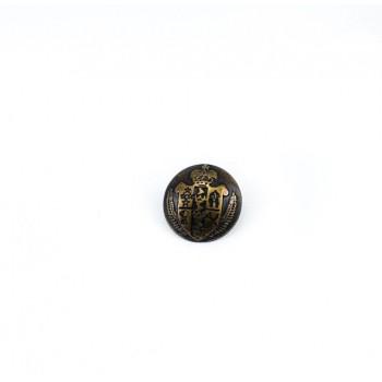 Medieval Design Metal Foot Button (E 1050 Small) 15 mm - 24 size E 1051