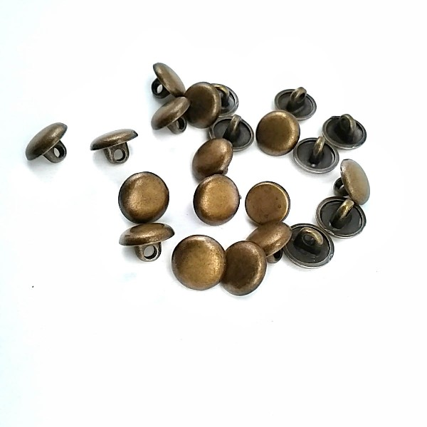 10 mm 16 Size Plain Button Metal E 1070