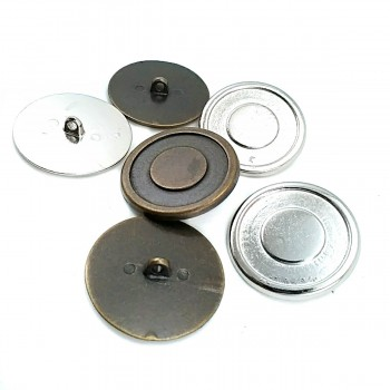 33 mm - 53 L Enamelled coat and leather coat shank button E 1085
