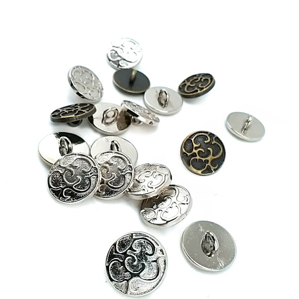 14 mm - 22 length Patterned sew-on button E 1124