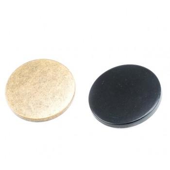 Plain Metal Foot Button 33 mm - 53 size E 1138