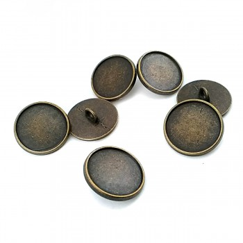 20 mm - 31 size Unformed Button with Metal Foot E 1155