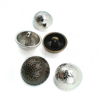 Flower Pattern Footed Button 20 mm - 34 size E 12