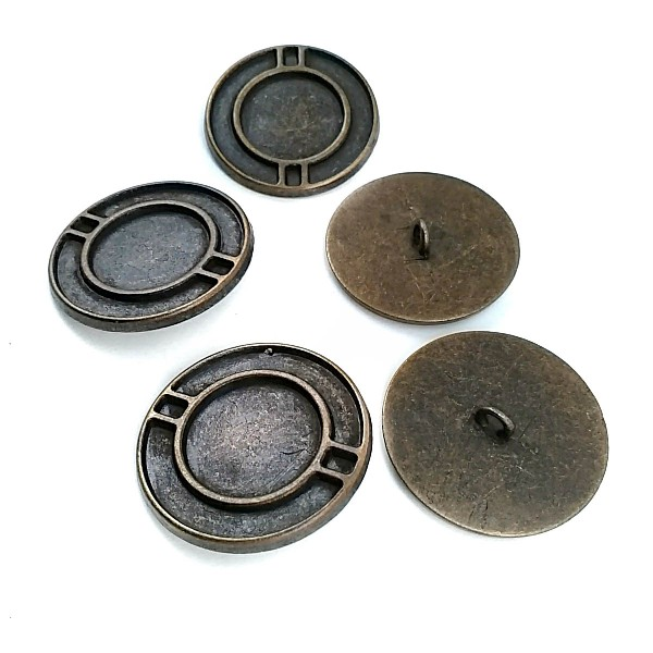34 mm - 54 size Metal Foot Button E 1208