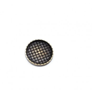 20 mm 33 Size Square Patterned Button with Foot Metal E 1236