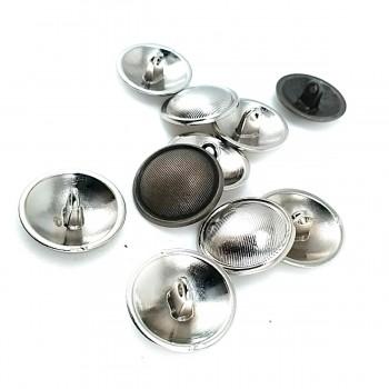20 mm - 39 L Striped Metal Shank Button E 1295