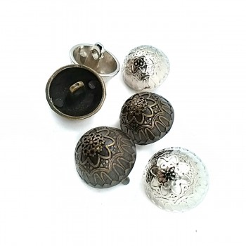Button with Flower Patterned Metal Leg 18 mm - 29 size E 13