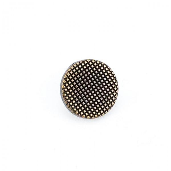 11 mm 18 Boy Checkered Button Metal E 1344