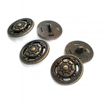 22.5 mm - 36 size Stylish Pattern Bottom Sewing Button E 136