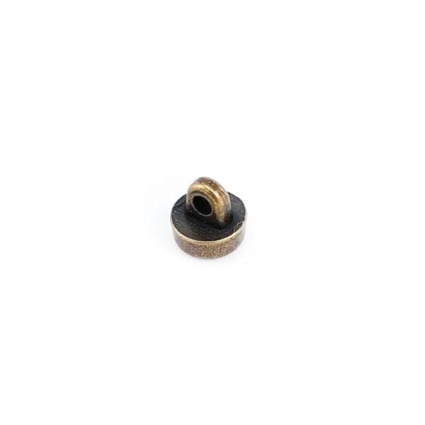8 mm - 13 size Metal Leg Stone & Enamel Button E 1372