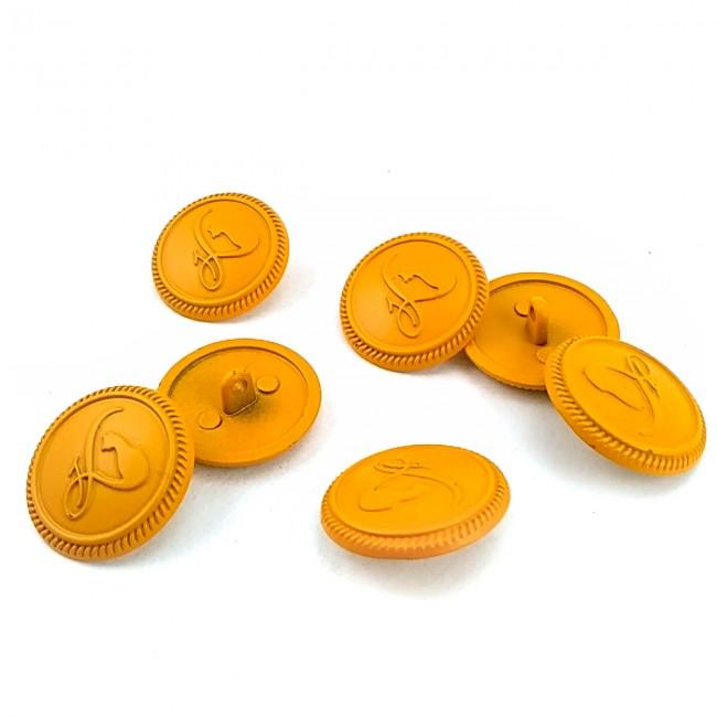 23 mm Kedi Desenli Ayaklı metal düğme - 36 lignes E 1380