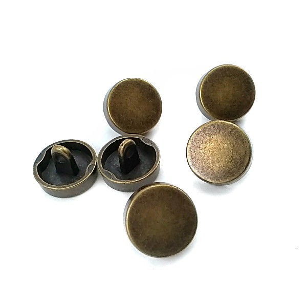 Button with 15 mm - 24 size Patterned Metal Foot E 1381