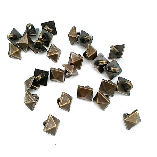 8 mm - 13 L Pyramid Shape Shank Button E 1389