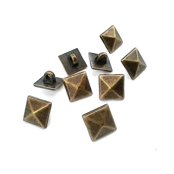 10.2 mm - 16 size Pyramid Design Footed Button E 1393