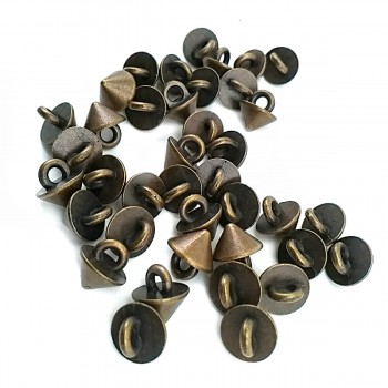 8.3 mm - 14 size Cone Shaped Metal Foot Button E 1411