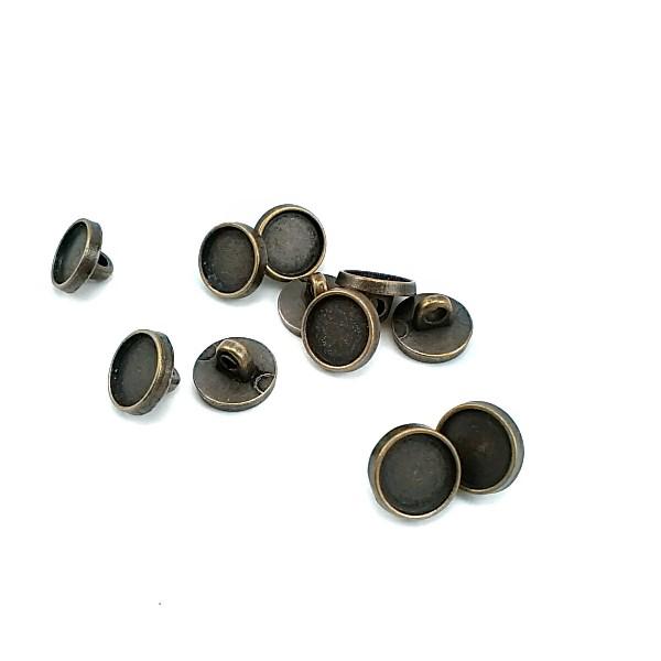 11 mm - 17 L Enamel Metal Shank Button E 147