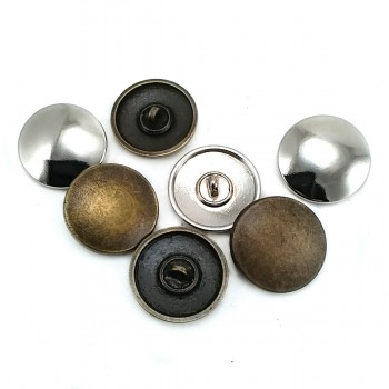 25 mm 40 Full Length Button with Pattern Metal E 1478