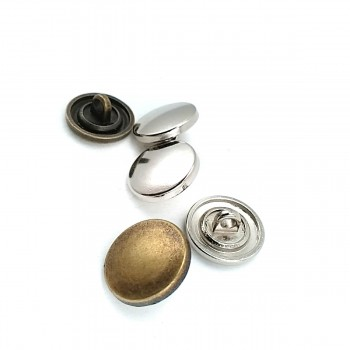 15mm - 24 size Enameled Metal Footed Button E 1480