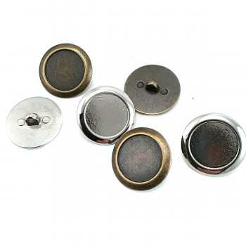 23 mm 37 Size Thick Edge Footed Button Metal E 1487