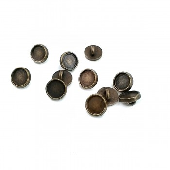9.9 mm - 16 size Enameled Metal Foot Button E 1505
