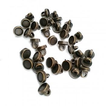 7.7 mm - 13 size Metal Leg Enamel Button E 1513