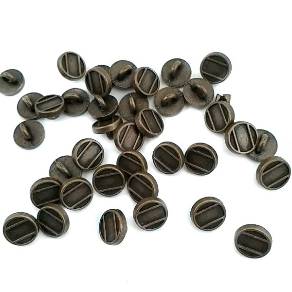 9.2 mm - 14 size Metal Striped Foot Button E 1559