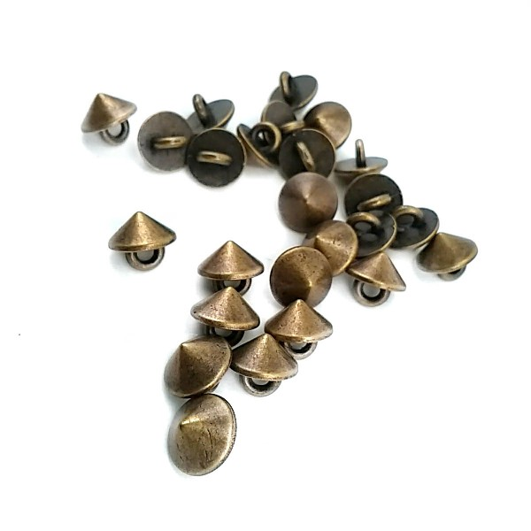 9 mm - 15 size Conical Metal Footed Button E 1560