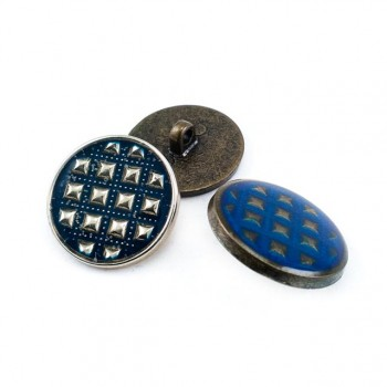 22 mm - 36 size Jacket button - metal and enamel E 1648