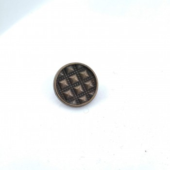 18 mm - 29 length Patterned sew-on button E 1649