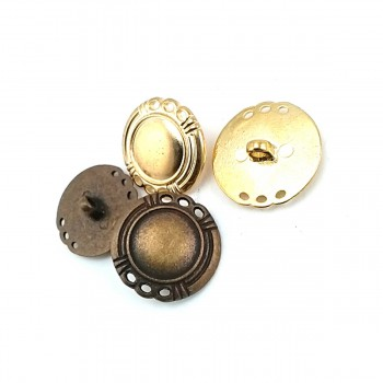 24 mm - 40 L Stylish Shank Metal Button E 1674