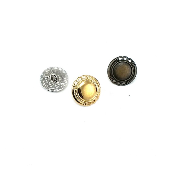 16 mm - 24 size Stylish Edged Footed Button E 1676