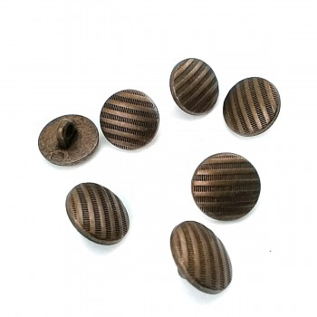 12.7 mm - 21 size Line Pattern Footed Button E 1689