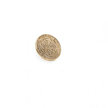 Patterned shank metal button 17 mm - 28 size E 18