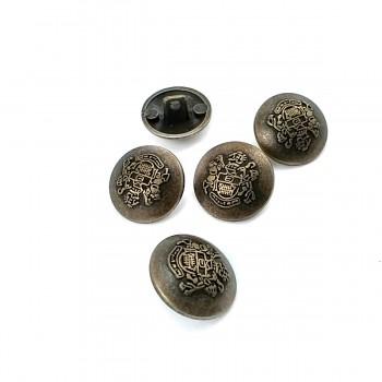 15 mm -24 size Blazer Metal Shank Button E 1875