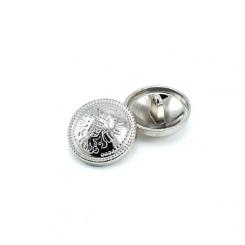 Footed metal button patterned 22mm - 36 ligne E 1884