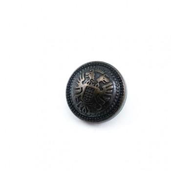 Patterned Metal pedestal button 18mm - 28 ligne E 1885