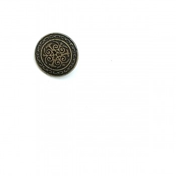 Patterned Bottom Sewing Button 15 mm - 24 size E 19