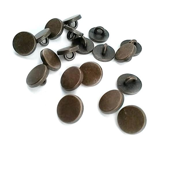 10 mm - 16 L Flat Coin Shape Metal Shank Button E 1987