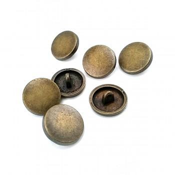 18 mm - 28 L Flat Coin Shape Metal Shank Button E 2001